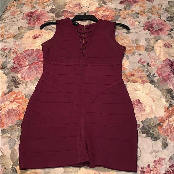 bebe Dresses & Skirts - Beautiful marroon bandage dress